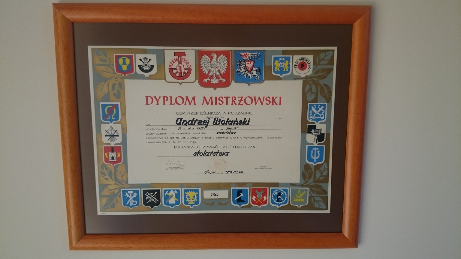 slupsk stolarz certyfikowany